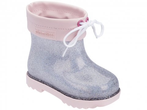 <img class='new_mark_img1' src='https://img.shop-pro.jp/img/new/icons22.gif' style='border:none;display:inline;margin:0px;padding:0px;width:auto;' />【60%OFF】Melissa  Mini Melissa Rain Boot-PINK SILVER