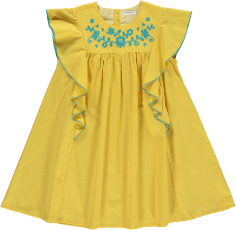 <img class='new_mark_img1' src='https://img.shop-pro.jp/img/new/icons22.gif' style='border:none;display:inline;margin:0px;padding:0px;width:auto;' />【50%OFF】HAPPYOLOGY  KEA DRESS, YELLOW 4-5Y,6-7Y,8-9Y
