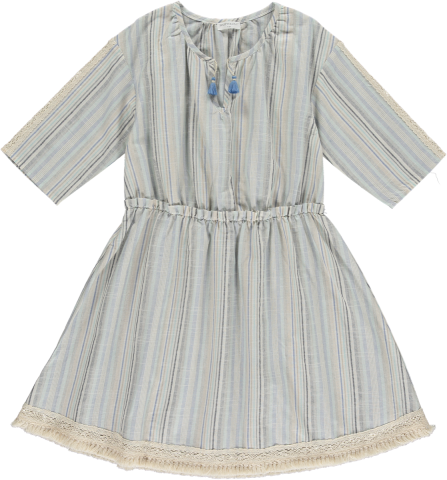 <img class='new_mark_img1' src='https://img.shop-pro.jp/img/new/icons22.gif' style='border:none;display:inline;margin:0px;padding:0px;width:auto;' />【50%OFF】HAPPYOLOGY  SIENNA DRESS, BLUE STELLA 4-5Y,6-7Y,8-9Y