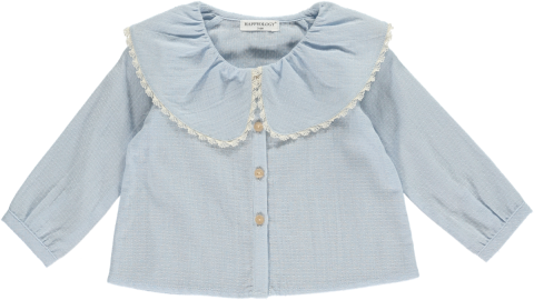 HAPPYOLOGY  LERENA BABY BLOUSE, CASHMERE BLUE