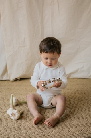 【60%OFF】HAPPYOLOGY Essential Organic Cotton Romper, White