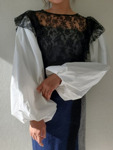 <img class='new_mark_img1' src='https://img.shop-pro.jp/img/new/icons22.gif' style='border:none;display:inline;margin:0px;padding:0px;width:auto;' />【40%OFF】GHOSPELL Payday Lace Blouse