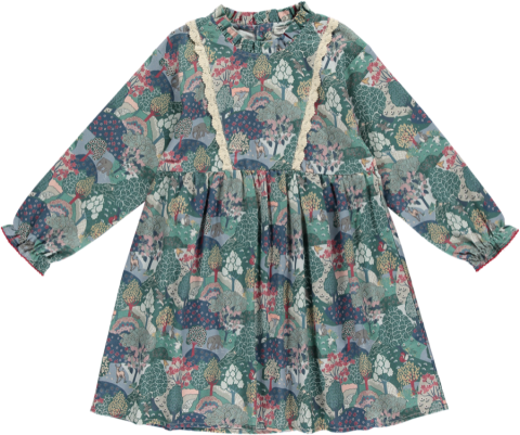 <img class='new_mark_img1' src='https://img.shop-pro.jp/img/new/icons22.gif' style='border:none;display:inline;margin:0px;padding:0px;width:auto;' />【40%OFF】HAPPYOLOGY Alyssa Dress, Green Forest