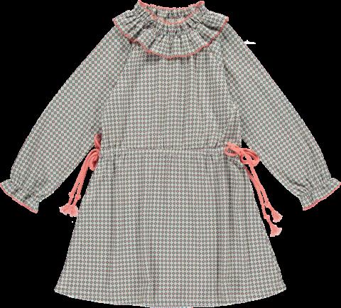 <img class='new_mark_img1' src='https://img.shop-pro.jp/img/new/icons22.gif' style='border:none;display:inline;margin:0px;padding:0px;width:auto;' />【40%OFF】HAPPYOLOGY Birdie Organic Cotton Dress, Orange Tile