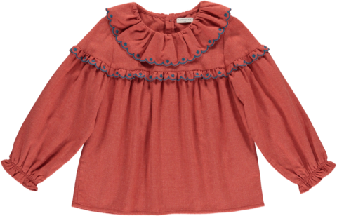 <img class='new_mark_img1' src='https://img.shop-pro.jp/img/new/icons22.gif' style='border:none;display:inline;margin:0px;padding:0px;width:auto;' />【40%OFF】HAPPYOLOGY Alyssa Blouse, Rosetta