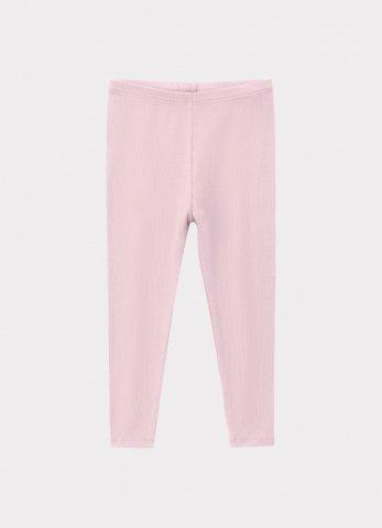 【60%OFF】HAPPYOLOGY Kids Ribbed Organic Cotton Jersey Leggings, Lilac