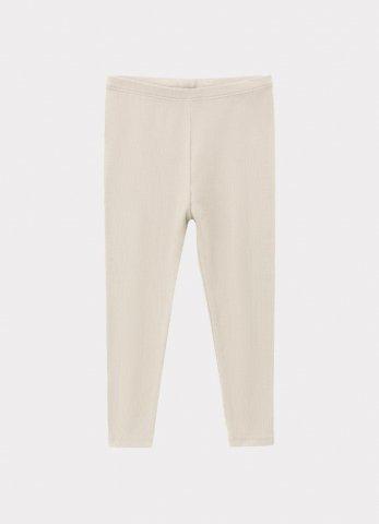 HAPPYOLOGY Kids Ribbed Organic Cotton Jersey Leggings, Baby Grey
