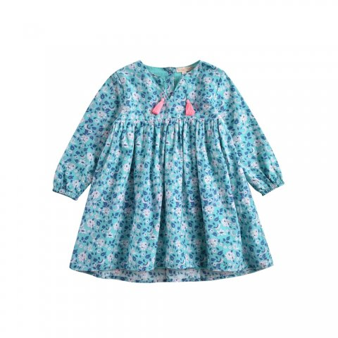 Louise Misha Kids Felizita Dress, Emerald Flowers
