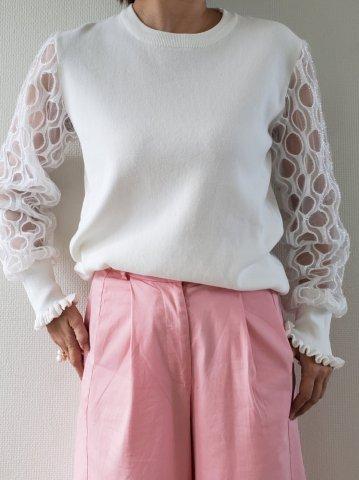 【40%OFF】JOVONNA Zinab tops-WHITE
