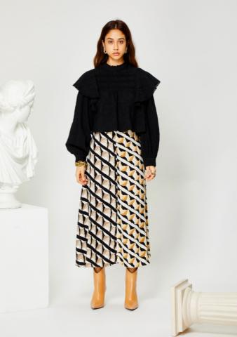 GHOSPELL Double Take Midi Skirt