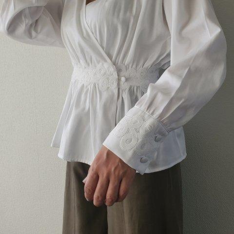 【40%OFF】JOVONNA Vivienne Blouse-WHITE