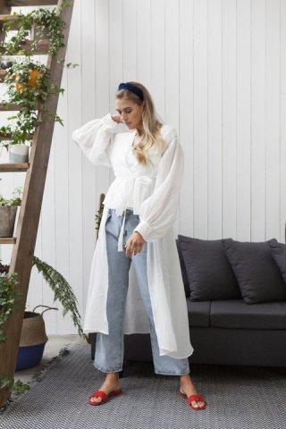 JOVONNA Storm Dress-WHITE