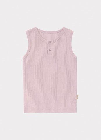 【オーガニックタンクトップ】HAPPYOLOGY Baby Ribbed Organic Cotton Jersey Vest, Lilac