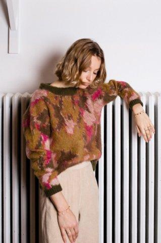 【ニットトップス】Louise Misha Womens Samuel Jumper, Khaki