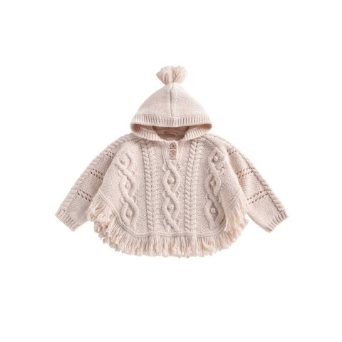 【ニットポンチョ】Louise Misha Kids Lili Mantle, Cream