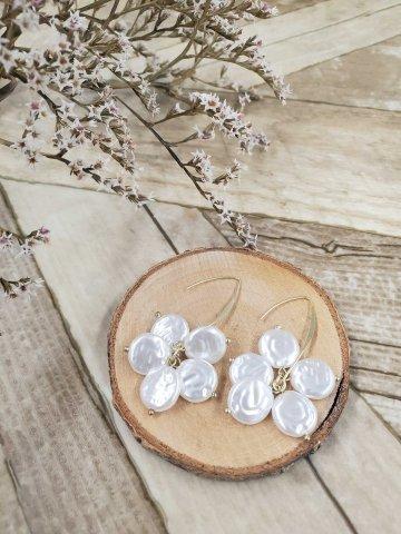 【ピアス】JOVONNA Flat pearl Earrings