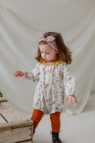 【60%OFF】【ロンパース】HAPPYOLOGY  Betty Baby Romper, Modern Floral