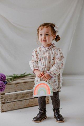 【60%OFF】【ロンパース】HAPPYOLOGY Wilbury Baby Romper, Violet Floral