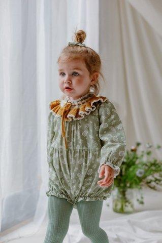 【ロンパース】HAPPYOLOGY Wilbury Baby Romper, Antique Green Floral