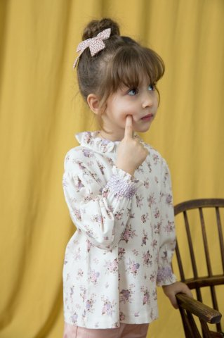 【ブラウス】HAPPYOLOGY Kids Millie Blouse, Violet Floral
