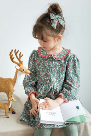 【ワンピース】HAPPYOLOGY Kids Meridian Dress, Chelsea Garden