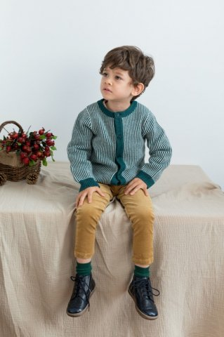【カーディガン】HAPPYOLOGY Baby Meredith Cardigan, Emerald