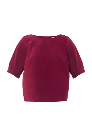 【40%OFF】【ブラウス】Emily and Fin AVA TOP, BOYSENBERRY NEEDLE CORD