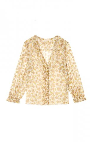 【ブラウス】Louise Misha Womens Lorine Blouse, Blush Flowers Lurex