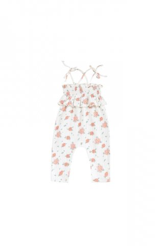Louise Misha Baby Abha Jumpsuits, Off-White Flowers