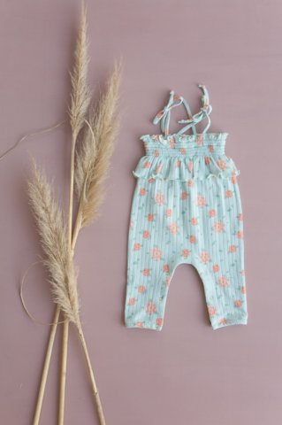 <img class='new_mark_img1' src='https://img.shop-pro.jp/img/new/icons5.gif' style='border:none;display:inline;margin:0px;padding:0px;width:auto;' />Louise Misha Baby Abha Jumpsuits, Vintage Blue Flowes
