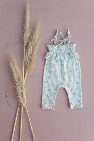 Louise Misha Baby Abha Jumpsuits, Vintage Blue Flowes