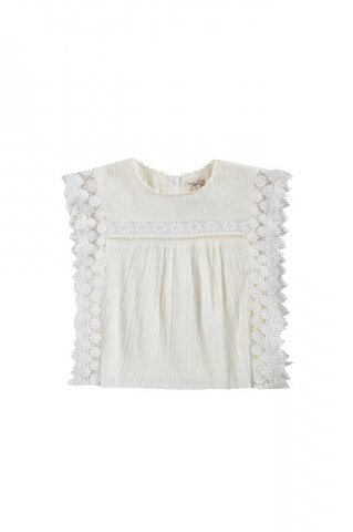 <img class='new_mark_img1' src='https://img.shop-pro.jp/img/new/icons5.gif' style='border:none;display:inline;margin:0px;padding:0px;width:auto;' />Louise Misha Adolio Blouse, Off-White