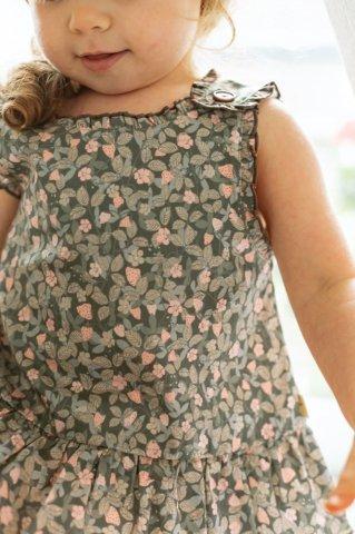 【セットアップ】HAPPYOLOGY Baby Langham 2piece baby set, Kent Strawberry