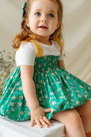 【セットアップ】HAPPYOLOGY Baby Newbury 3piece Baby set, Green tropical