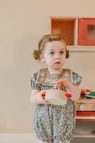 【ロンパース】HAPPYOLOGY Baby Arundel Romper, Kent Strawberry