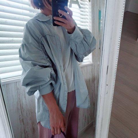 【シャツ】JOVONNA EMELIA SHIRT-BLUE