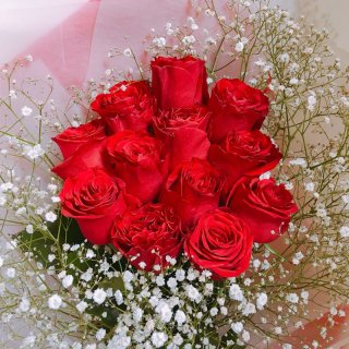 [本数指定] プレミアムローズ 大輪バラの花束 レッド 単品