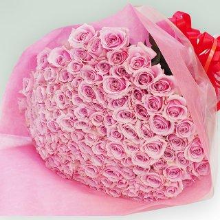 [本数指定]ピンクローズ バラの花束 単品