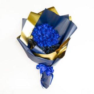 ブルーローズ バラの花束 青 20本