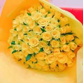 [本数指定] イエローローズ バラの花束 黄色 単品