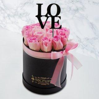 [LOVE] ホワイトデーギフト ラウンドボックスローズ ピンク