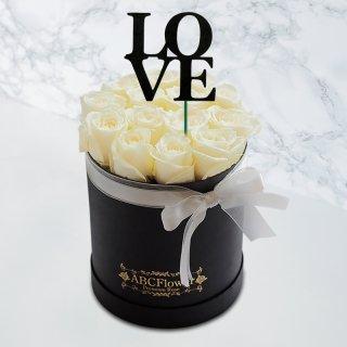[LOVE] ホワイトデーギフト ラウンドボックスローズ ホワイト
