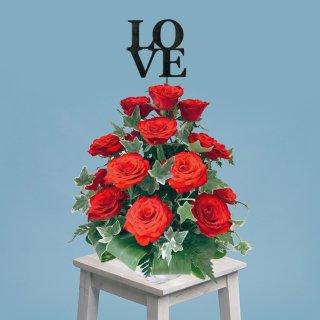 [LOVE] ホワイトデーギフト ローズタワーアレンジメント レッド
