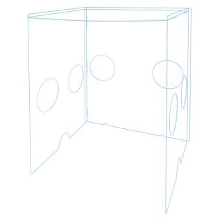 簡易組立式エアゾルBOX 幅47cm|アクリル保健室