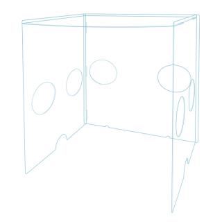 簡易組立式エアゾルBOX 幅60cm|アクリル保健室