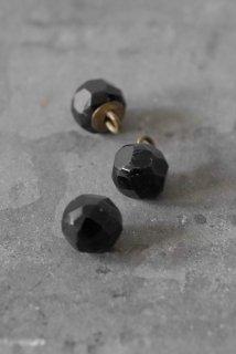 3 boutons verre noir