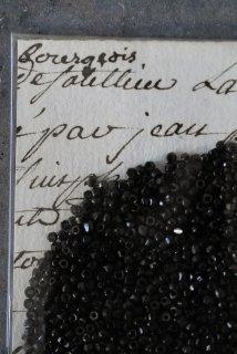 Antique beads (noir S)