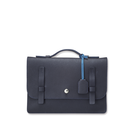 T Briefcase(M)<br>German Shrunken Calf×Soft Calf<br>Arctic Blue×Ink Blue