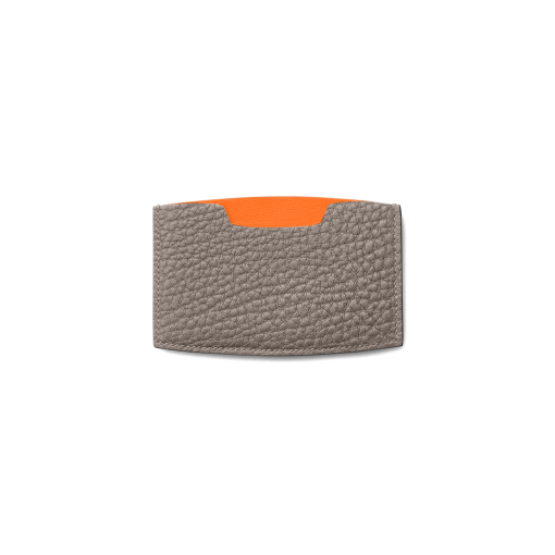 MN Card Holder<br>French Crisp Calf×Lamb<br>Titanium×Orange
