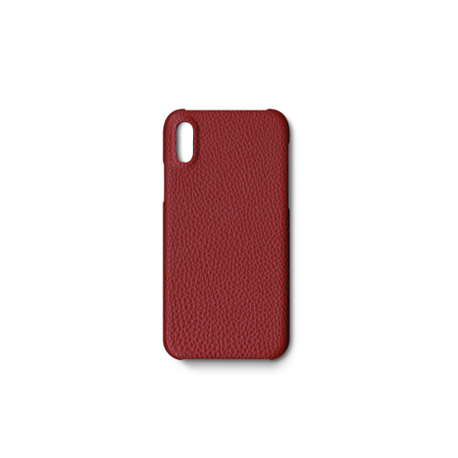 iPhone X & XS Case<br>German Shrunken Calf<br>Red